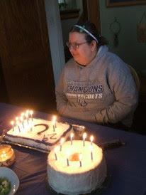 Photo of Kalish blowing out her candles on Getting It right - occasionally blog