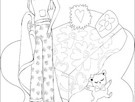 Barbie Bedroom Coloring Pages