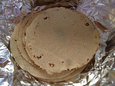 steamed tortillas