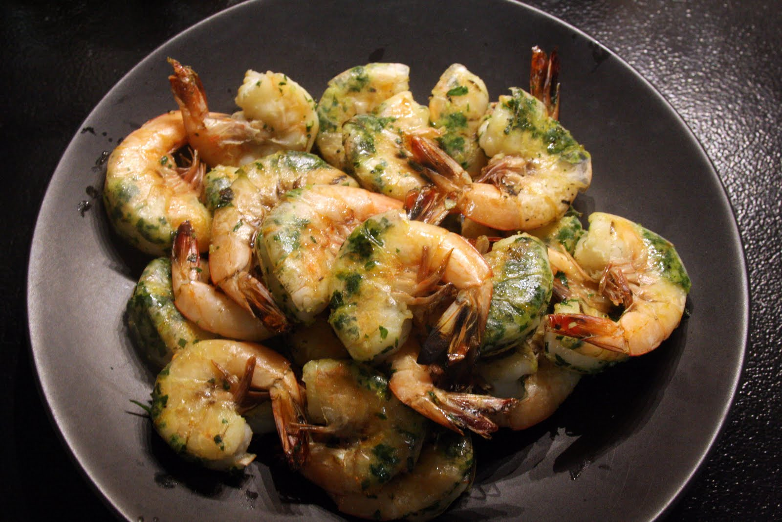 Food Wonk: Grilled Garlic Shrimp with Herbs