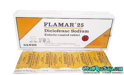 Flamar (Diclofenak Sodium)  Indikasi Dosis dan Harga