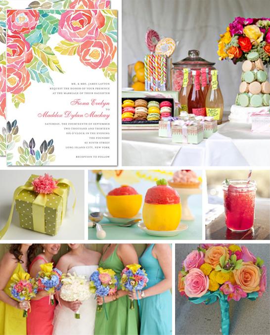 RainingBlossoms Bright Spring Wedding Colors