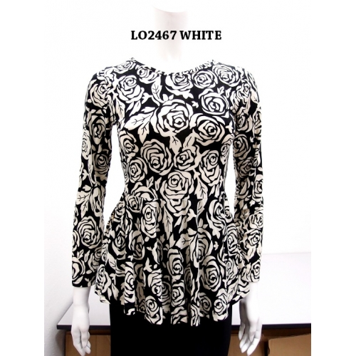 Blouse Mini peplum Floral -SOLD OUT