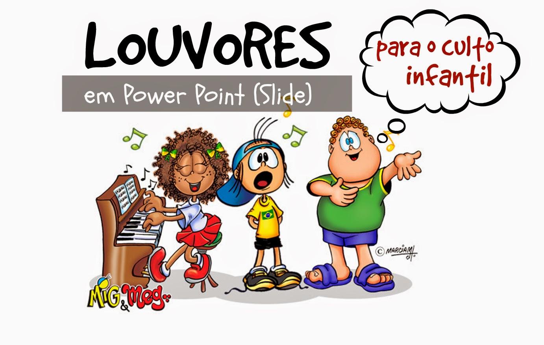 72 SLIDES DE LOUVORES COM SOM