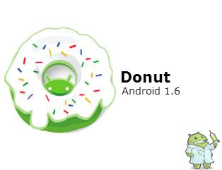 Versões do Android: Donut !