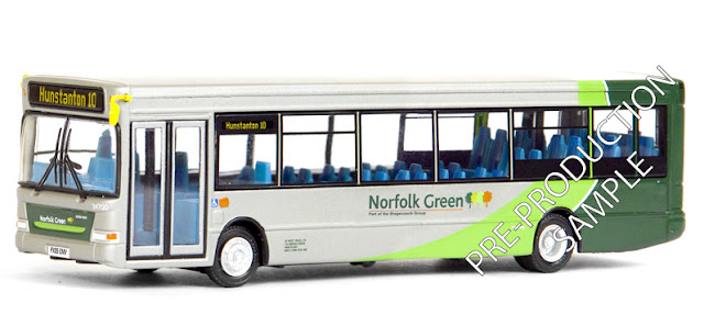 EFE PRE-PRO SAMPLE 36712 - Plaxton SLF Dart - Norfolk Green Registration number PX05 EMV, fleet number 34700. Working route 10 to Hunstanton. Scheduled for an September release -  RRP £34.50