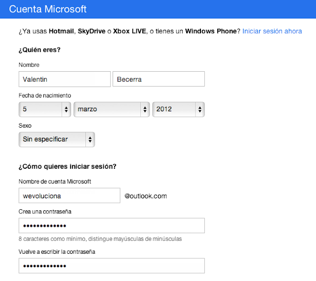 Crear una nueva cuenta de correo en Outlook