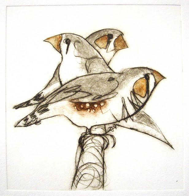 Three Finches by Bridget Farmer