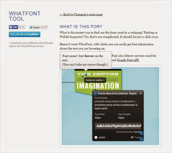 Tools Web Design Professional WhatFont