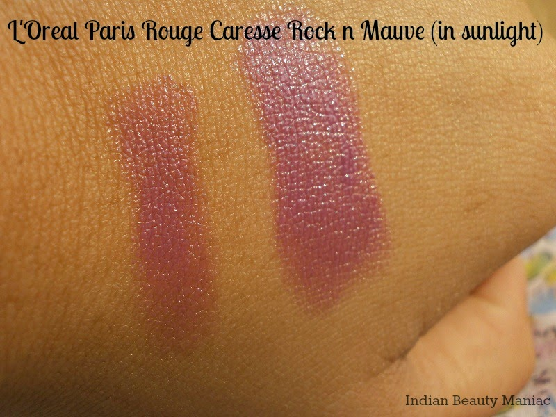L'Oréal Paris Rouge Caresse Lipstick in Rock 'n Mauve Swatch