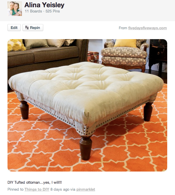 How To Make Your Own Coffee Table Ottoman