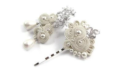 Perłowy komplet ślubny sutasz ivory