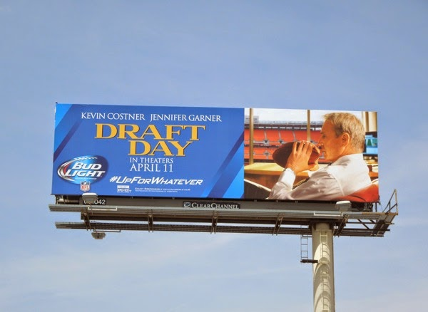 Draft Day Bud Light NFL billboard