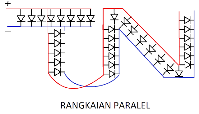 Membuat Rangkaian Paralel dan Seri menggunakan Lampu LED