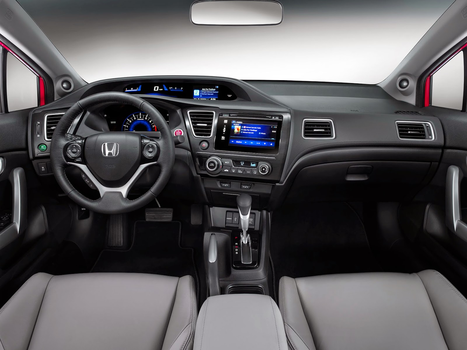 Interior view of 2014 Honda Civic