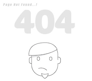 Custom 404 error page for blogger 1