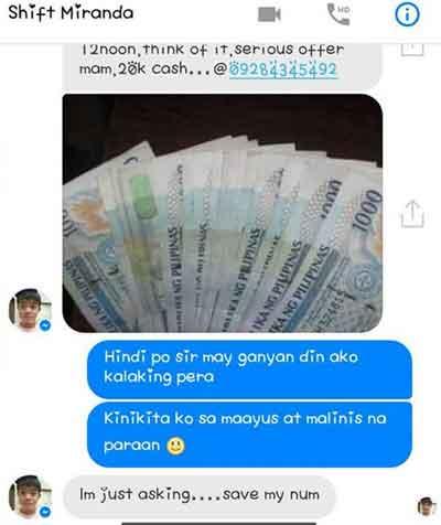 Shawn Villanueva shows the money