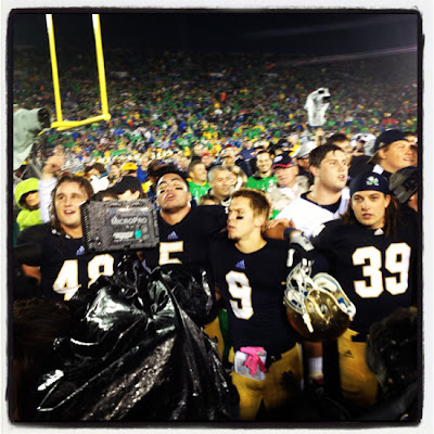 Manti Te'o and Robby Toma