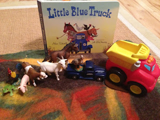 Wet felted Playscape - The Little Blue Truck