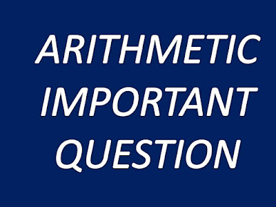 ARITHMETIC IMPORTANT QUESTION FOR IBPS PRELIMINARY EXAM.