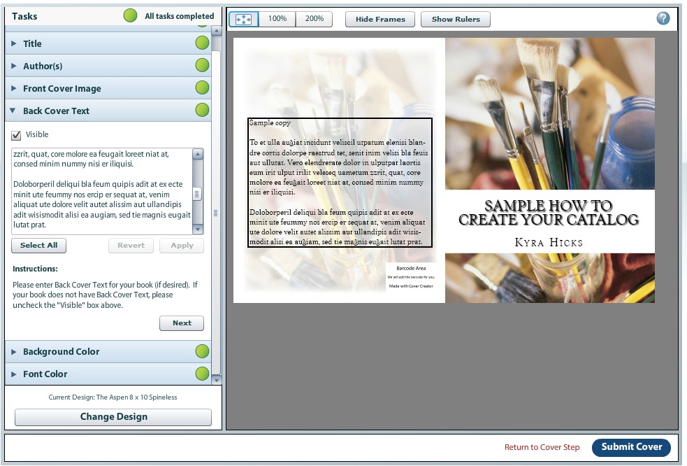 Publish your quilts for Createspace interior templates