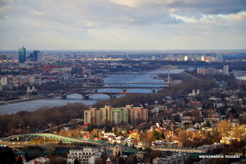 Warszawa miasto z lotu ptaka panorama miasta stolica mosty Wisła