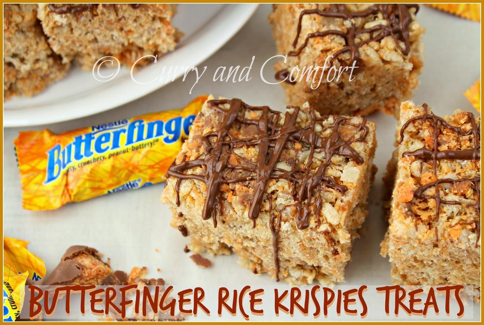 Kitchen Simmer: Butterfinger Rice Krispies Treats- Halloween Week