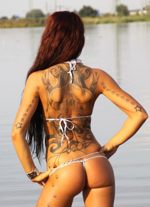 Cute Girls Lower Back Tattoos 2012