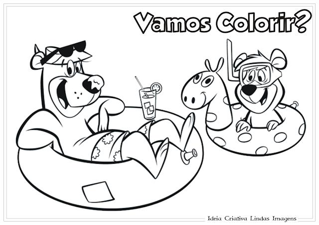 Zé Colmeia desenho para colorir