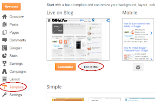 how to edit html in blogger