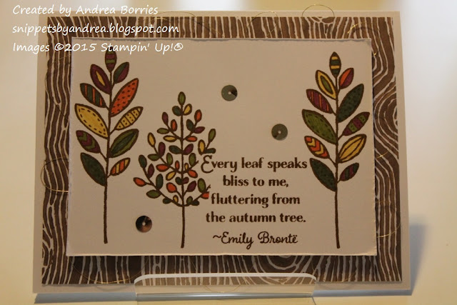 Fall-themed card made with Lighthearted Leaves stamp set.
