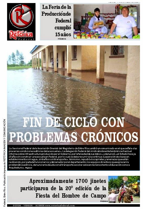 EDICIÓN IMPRESA DE RETÓRICA DEL 14-11-14
