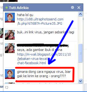 Snap16 >Cara Menghilangkan Virus Chat di Facebook