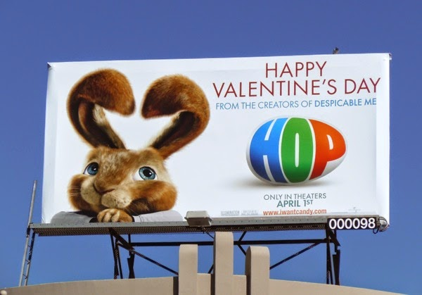 Happy Valentine's Day Hop movie billboard