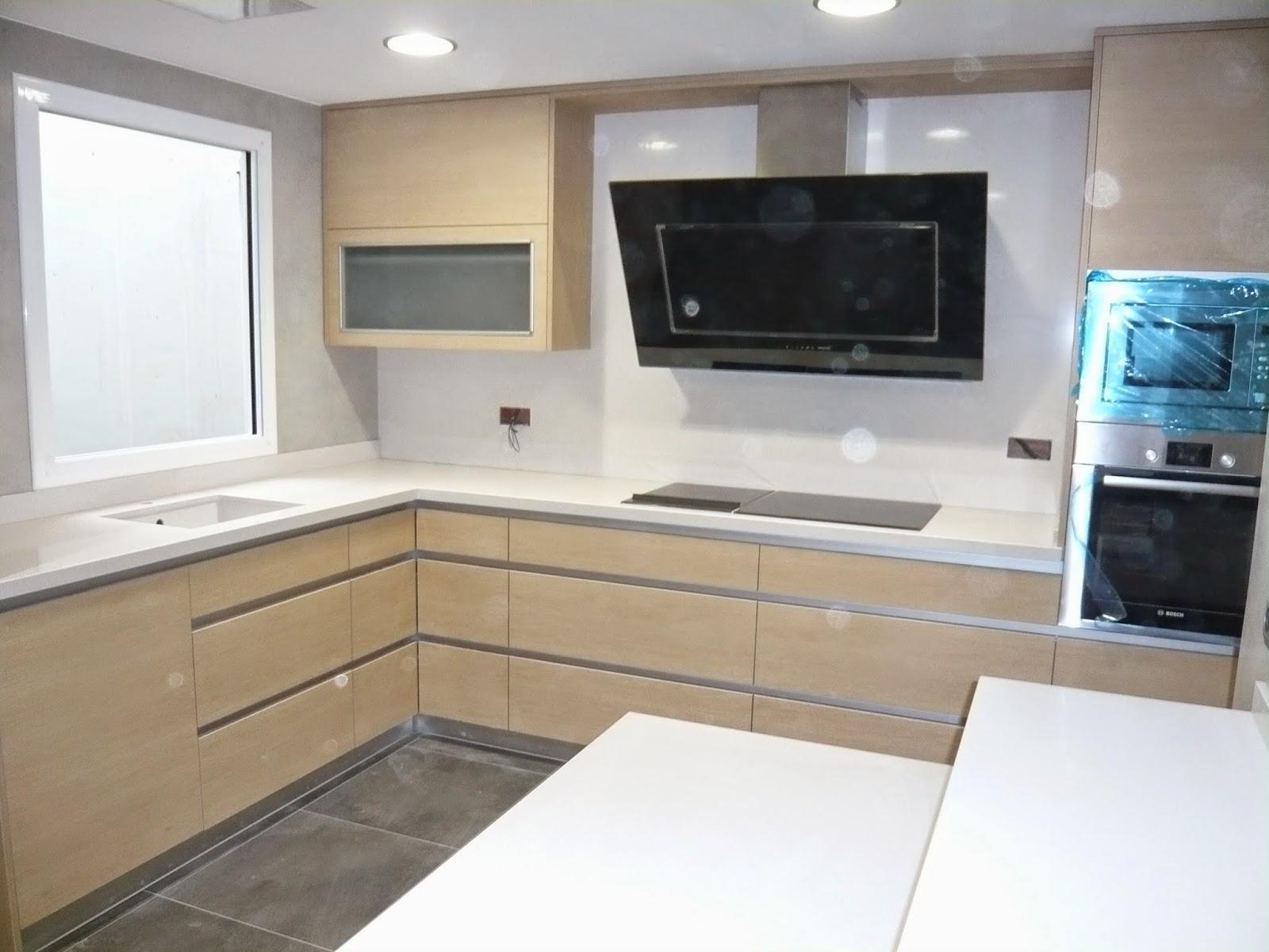 Reuscuina muebles de cocina sin tiradores gola - Tiradores y pomos para muebles ...