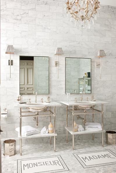 Marble Bathroom Chandelier In Bathroom Gorgeous Bathroom