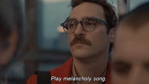 Toque uma música melancólica