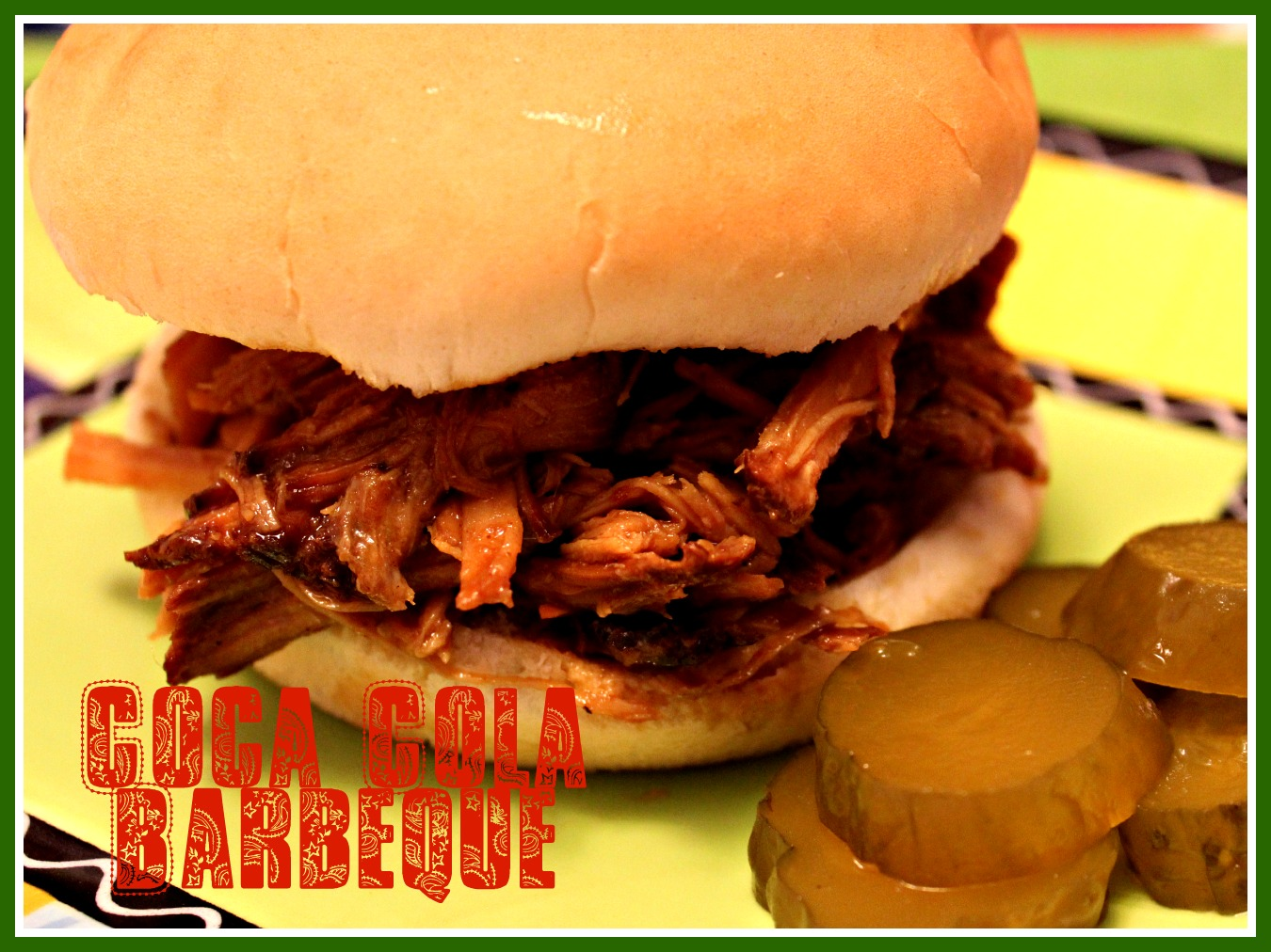 ... and Cornbread: Slow Cooker Pulled Pork in a Coca Cola Barbeque Sauce