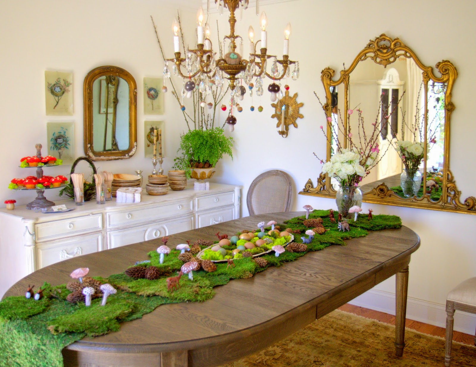 Woodland Party; Dining Room Table and Decor: Nora's Nest