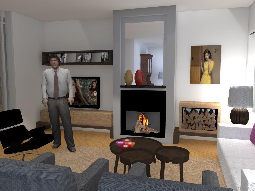 Arnoud herberts interieurarchitect: bezig ontwerpen woonkamer ...