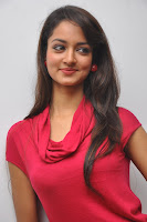 Shanvi Spotted at Adda Success Meet in Lovely Red Gown Cute Slim Beauty