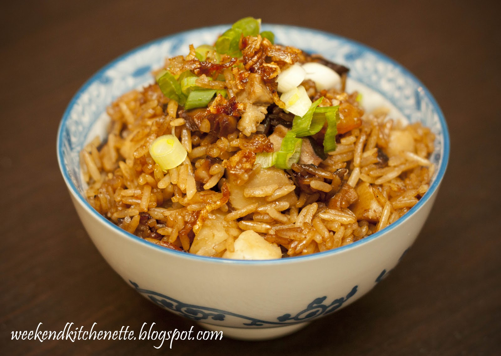 Weekend Kitchenette: Fragrant Yam rice (Taro rice)