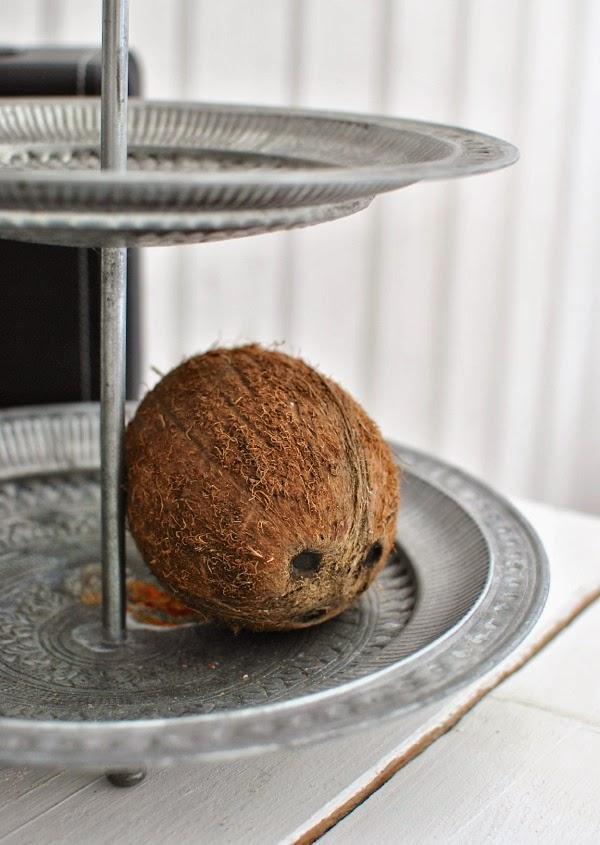 Hannas kokosnöt våningsfat