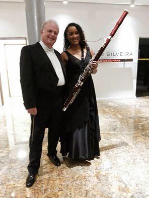 Bruna Com o Grande Maestro Gerard Oskamp