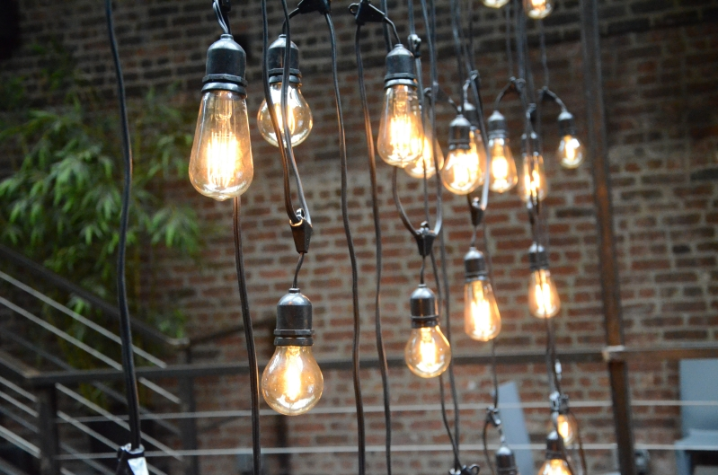 String Lights With Chandelier : Universal Light and Sound - Recent Events: Sting Light Chandelier - The Foundry - Sunday ...