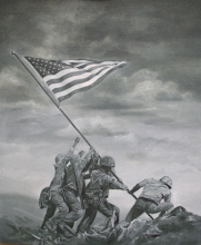 Raising the flag - underpainting complete!
