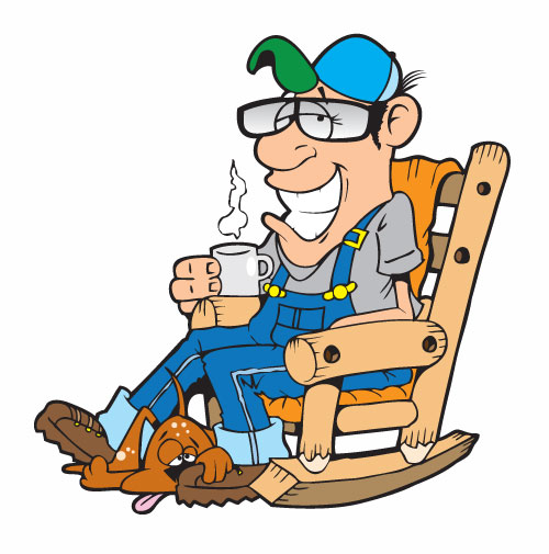 John deaton cartoonist old man on his rocker