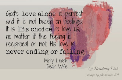 God's love alone...  Dear Wife... Book Review {Reading List}