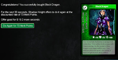 Black Dragon confirmation card from Superhero City