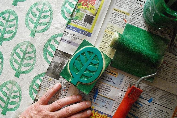 frauschoenert's hand printed cotton fabric